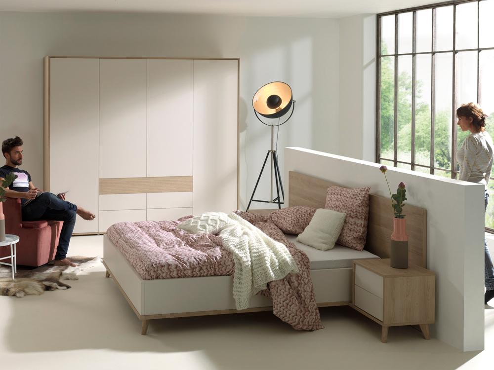 Kleur Voor Slaapkamer : Slaapkamer mila kleur eik beige wit deba meubelen