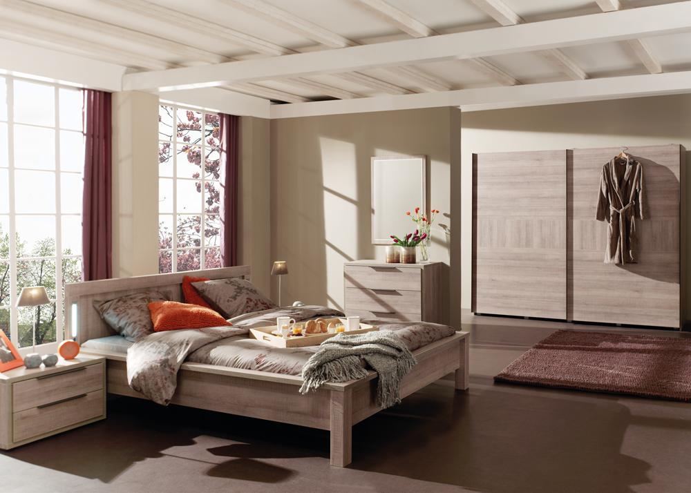 Kleur Voor Slaapkamer : Slaapkamer bruno kleur authentic oak grau hout deba meubelen