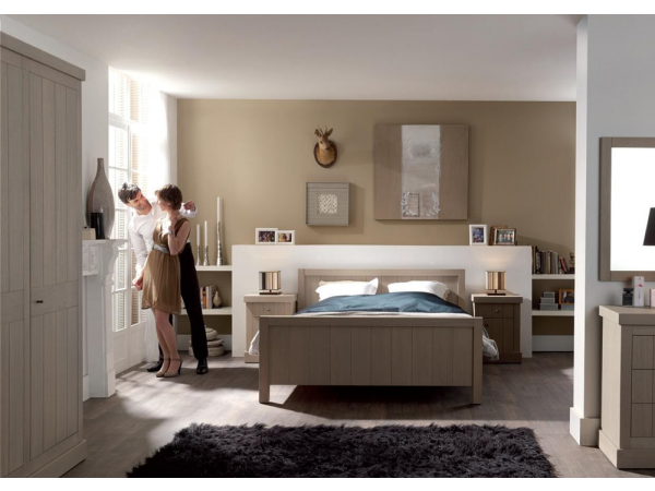 Hout Slaapkamer Meubels : Landelijke slaapkamer quinta hout deba meubelen