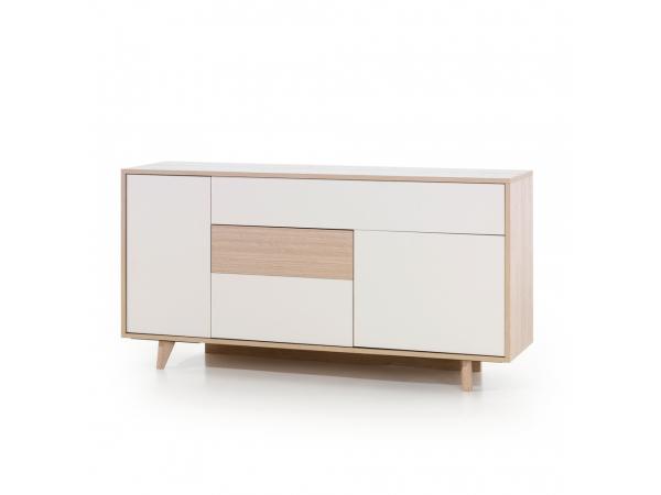 Kast dressoir mila eik beige wit deba meubelen