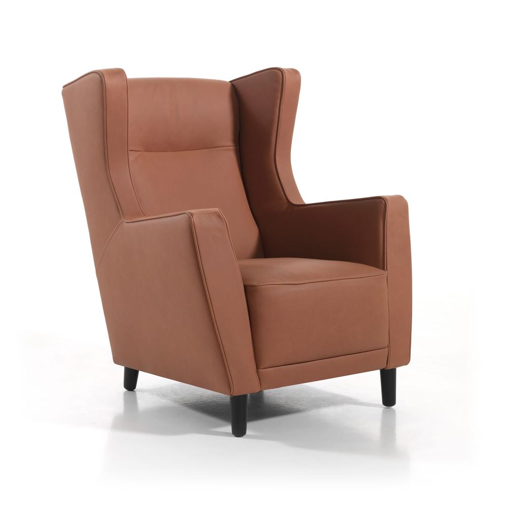 Lederen fauteuil pierre jesolo cognac bruin deba meubelen