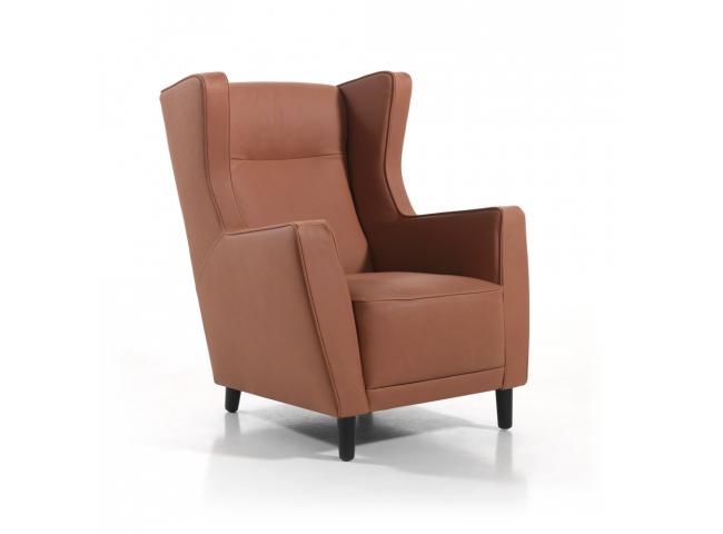 Lederen fauteuil 'Pierre' - kleur: Jesol