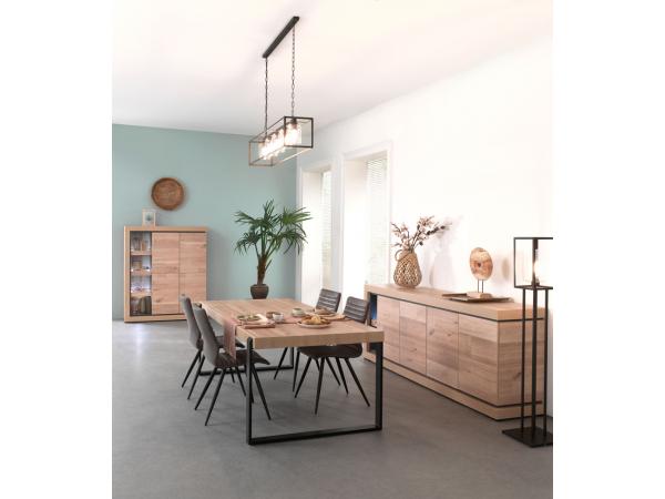 Kast dressoir pisa oude eik leisteen hout deba meubelen
