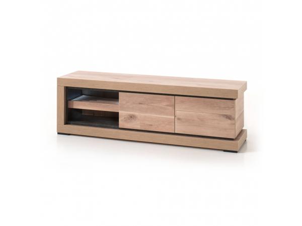 Tv meubel pisa oude eik leisteen hout deba meubelen