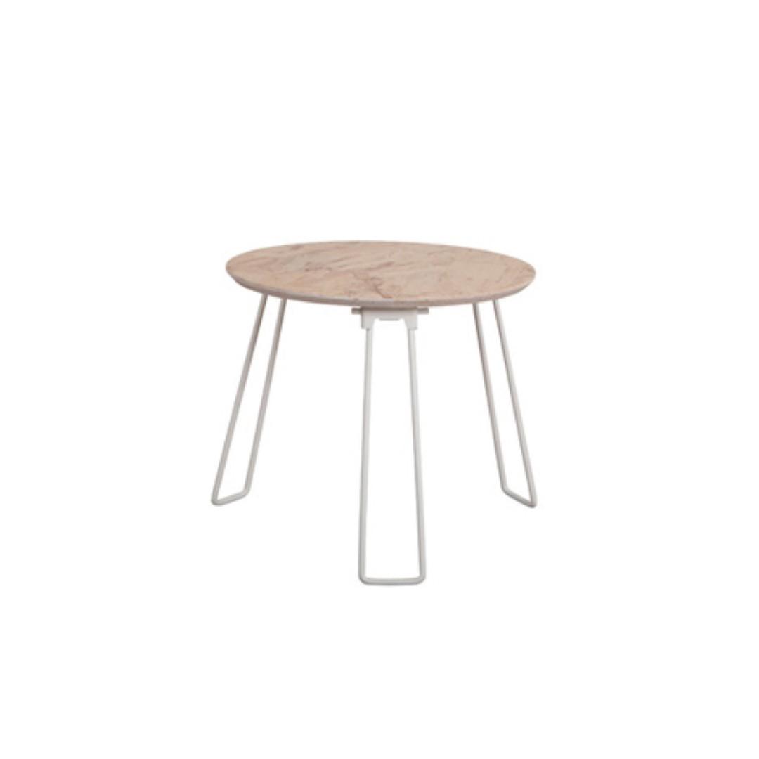 Salontafel osb kleur white wit deba meubelen