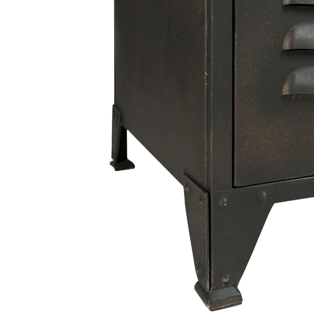 Industriele Kast Metaal : Kast industriële locker zwart metaal zwart deba meubelen