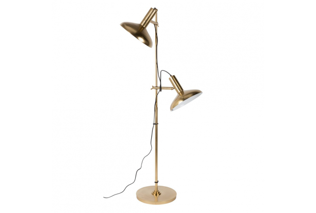 Karish vloerlamp, Brass Plated Iron