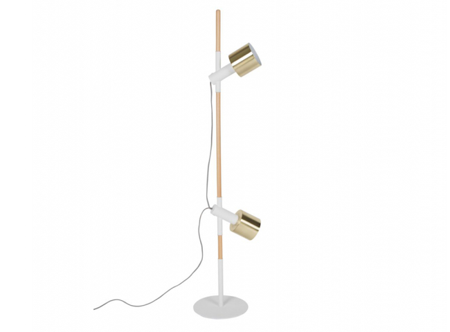 Ivy vloerlamp, Brass & white powdered