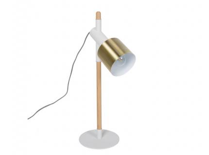 Ivy tafellamp, Brass & white powdered