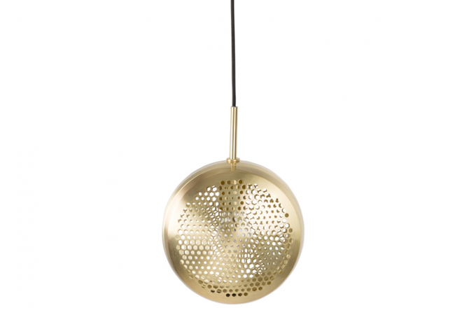 Gringo flat hanglamp, Brass