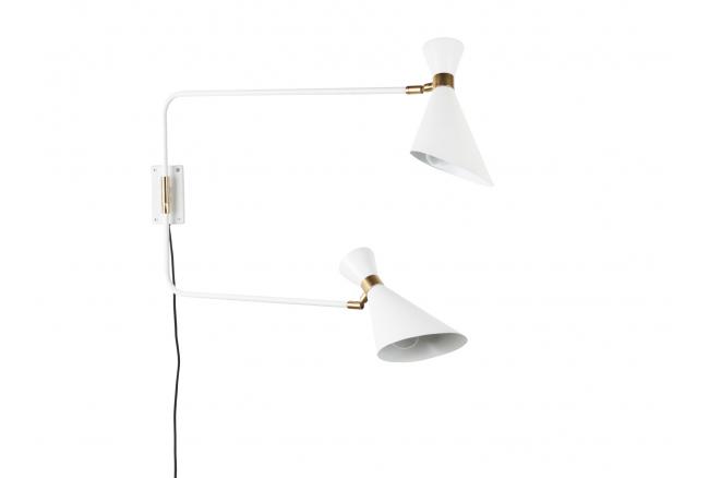 Shady Double wandlamp, White