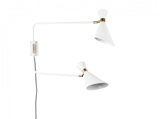 Shady Double wandlamp, White