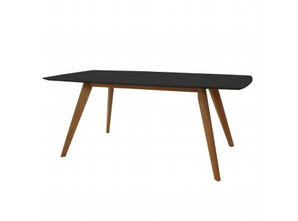 Eetkamertafel 'Bess' - kleur: black/oak