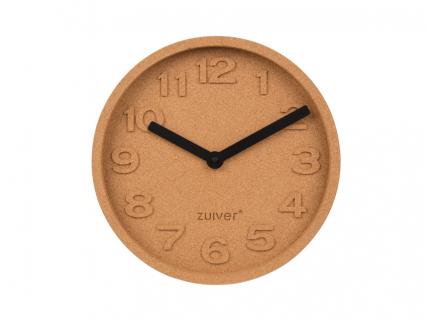 Klok 'Cork Time' - kleur: Kurk