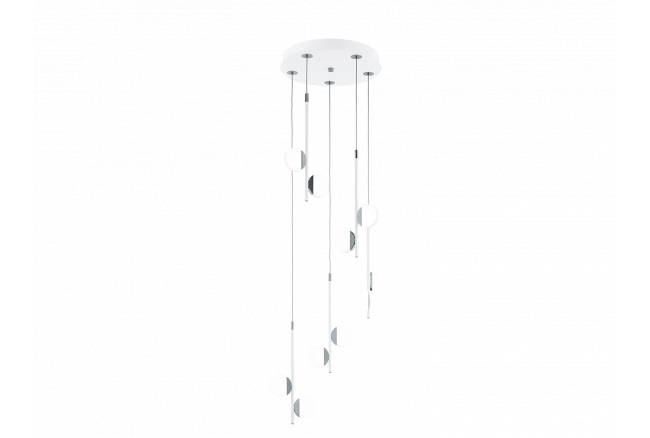Hanglamp 'Olindra' - kleur: Wi