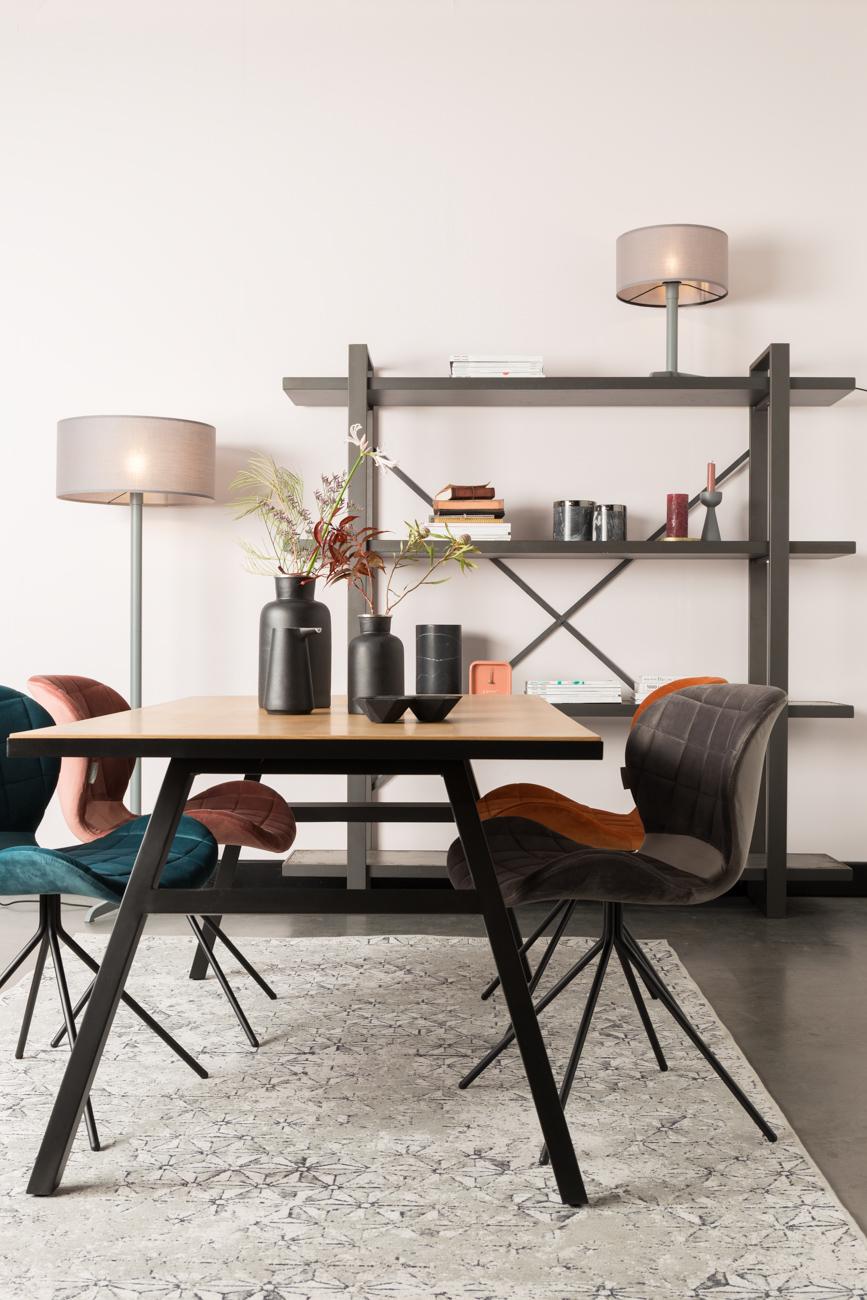 Zuiver Stoel Omg : Stoel omg velvet kleur grey grijs deba meubelen