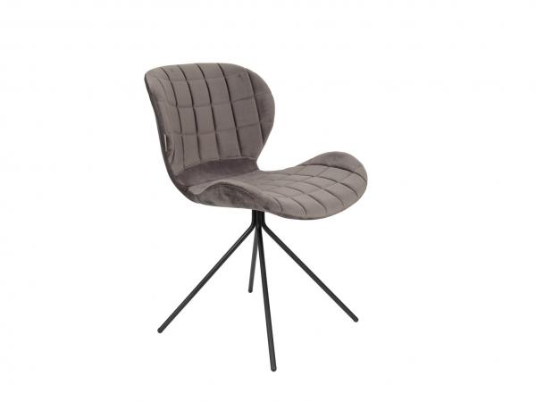 Stoel Zuiver Omg : Stoel omg velvet grey grijs deba meubelen