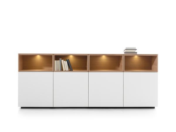 Kast dressoir cas eik & wit hout deba meubelen