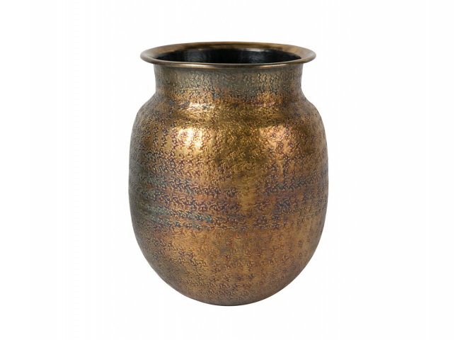 Vaas 'Baha' - kleur: Brass