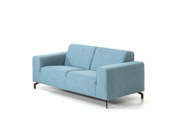 Zetel 2 zit top cube ocean blue blauw deba meubelen for Design zetel