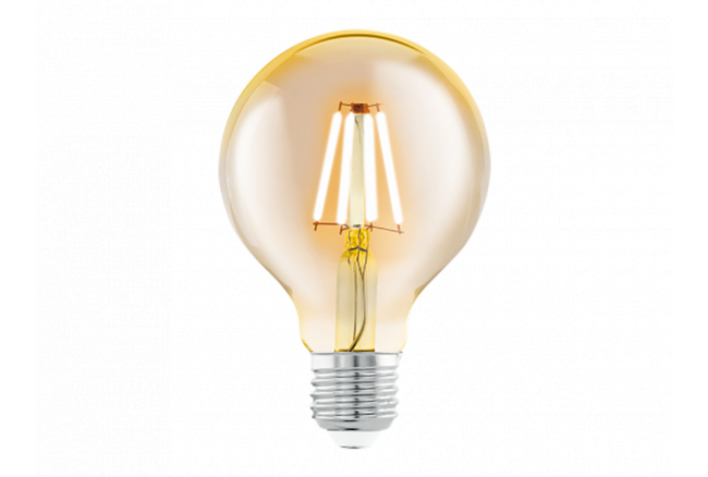 Lichtbron G80/E27/4W LED Amber