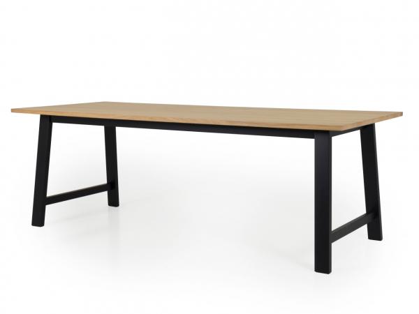 Tafel lex kleur: eik zwart hout deba meubelen