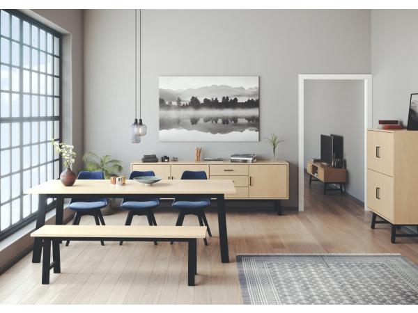 Salontafel Zweeds Design.Tafel Lex Eik Zwart Hout Deba Meubelen