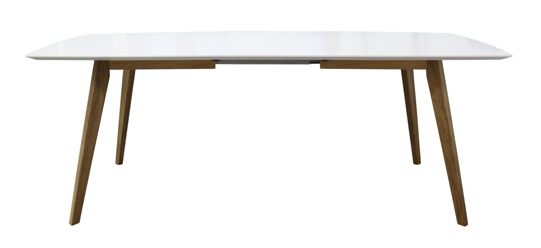 Wit Eiken Tafel : Tafel uitrekbaar bess kleur wit eik wit deba meubelen