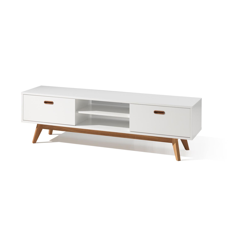 Eiken Woonkamer Meubelen : Tv meubel bess kleur wit eik wit deba meubelen