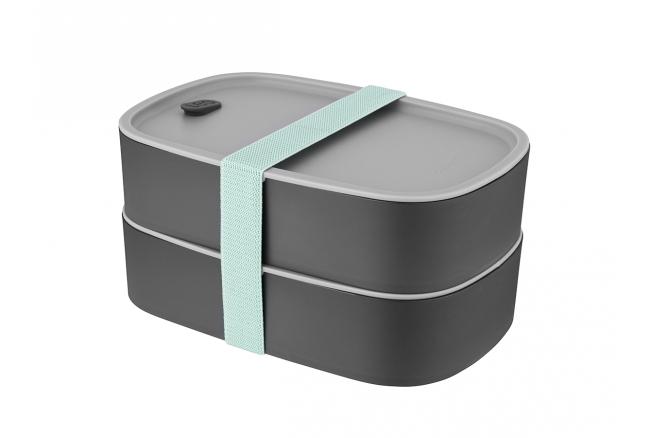 Tweedelige lunchbox 'Leo Line'