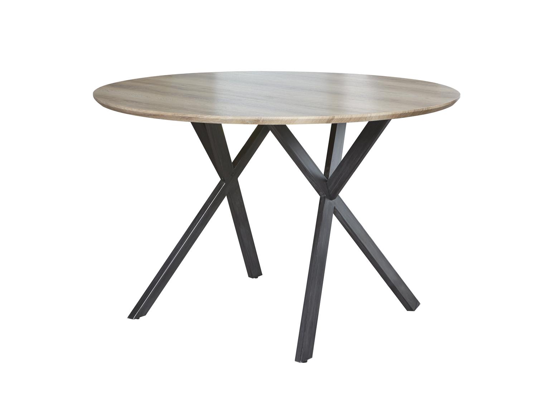 Tafel oval eiken antiquewash hout deba meubelen
