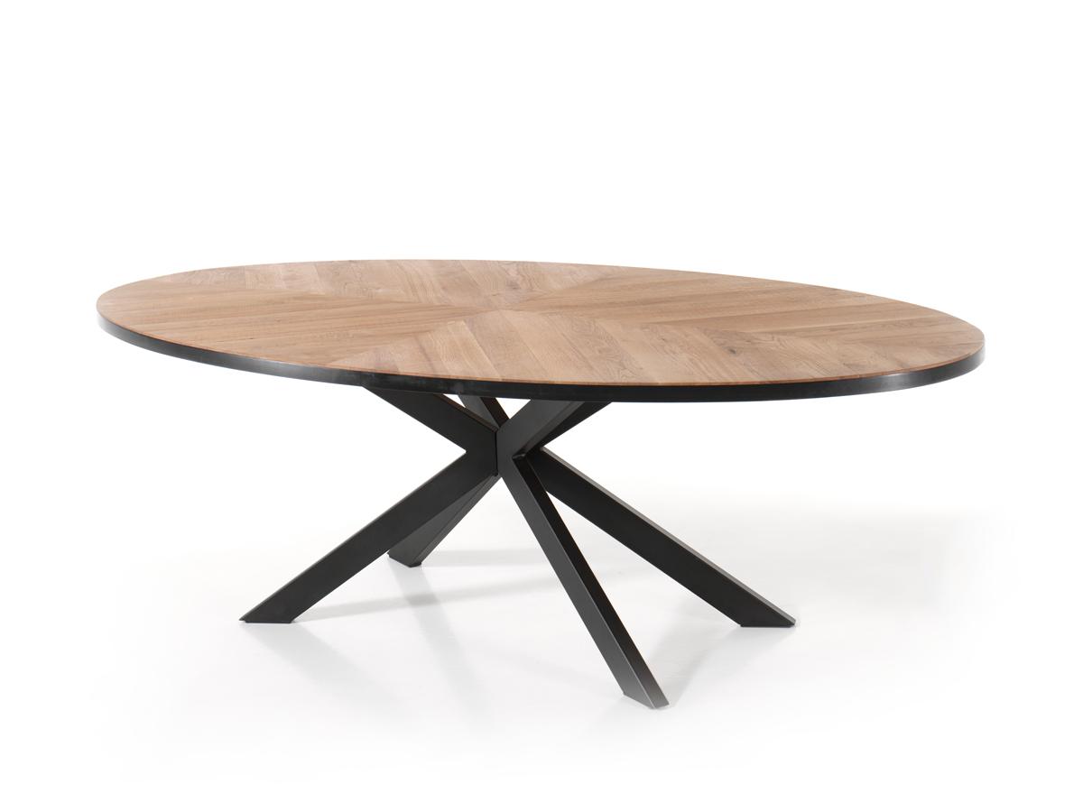 Eetkamertafel ovaal story eiken hout deba meubelen