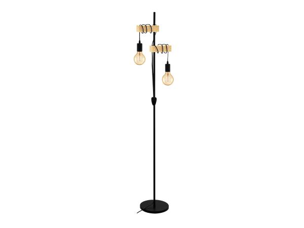 Beroemd Vloerlamp TOWNSHEND - Hout & Zwart Metaal zwart | DEBA Meubelen BQ72