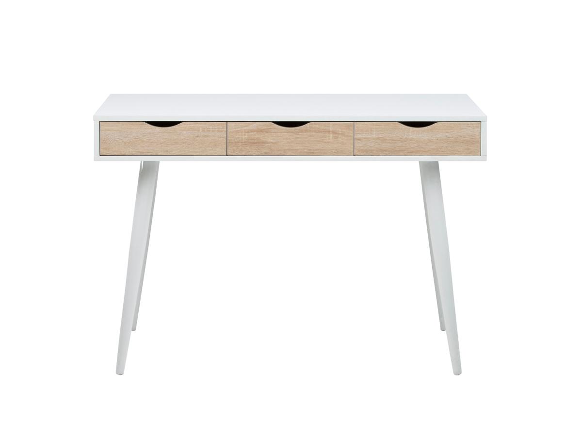 Bureau neptun white oak wit deba meubelen