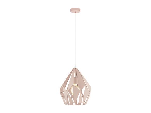 hanglamp carlton p kleur pastel abrikoos roze deba meubelen