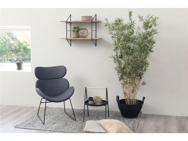 Woonideeen Woonkamer Kleuren : Hangrek belfast kleur: zwart hout hout deba meubelen