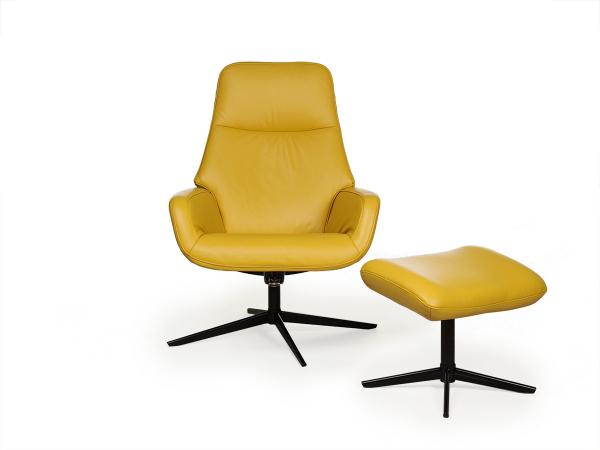 Fauteuil camillo balder jaune geel deba meubelen
