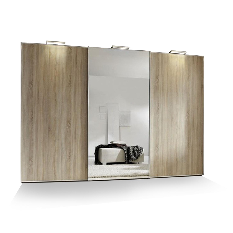 Schuifdeurkast met spiegel sinfonie plus lichtgrijs deba meubelen