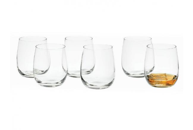 Set van 6 whisky glazen