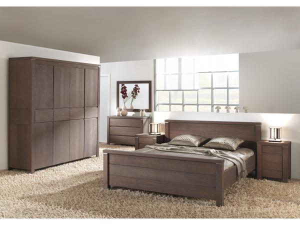 Hout Slaapkamer Meubels : Landelijke slaapkamer nature kleur: elephant grey hout deba