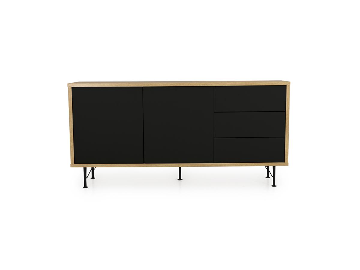 Eiken Woonkamer Meubelen : Dressoir flow kleur eik zwart zwart deba meubelen