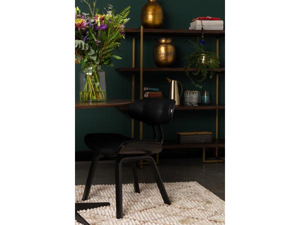 Dutchbone Stoel Blackwood : Stoel blackwood black zwart deba meubelen