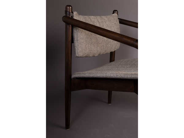 Lounge Stoel Bed.Lounge Chair Torrance Hout Deba Meubelen