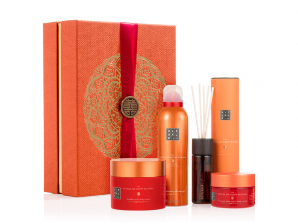 cadeaubox the ritual of happy buddha energising collection gift set