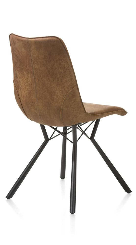 Cognac Kleur Stoel : Twee stoelen dutchbone met cognac kleurige kunst lederen