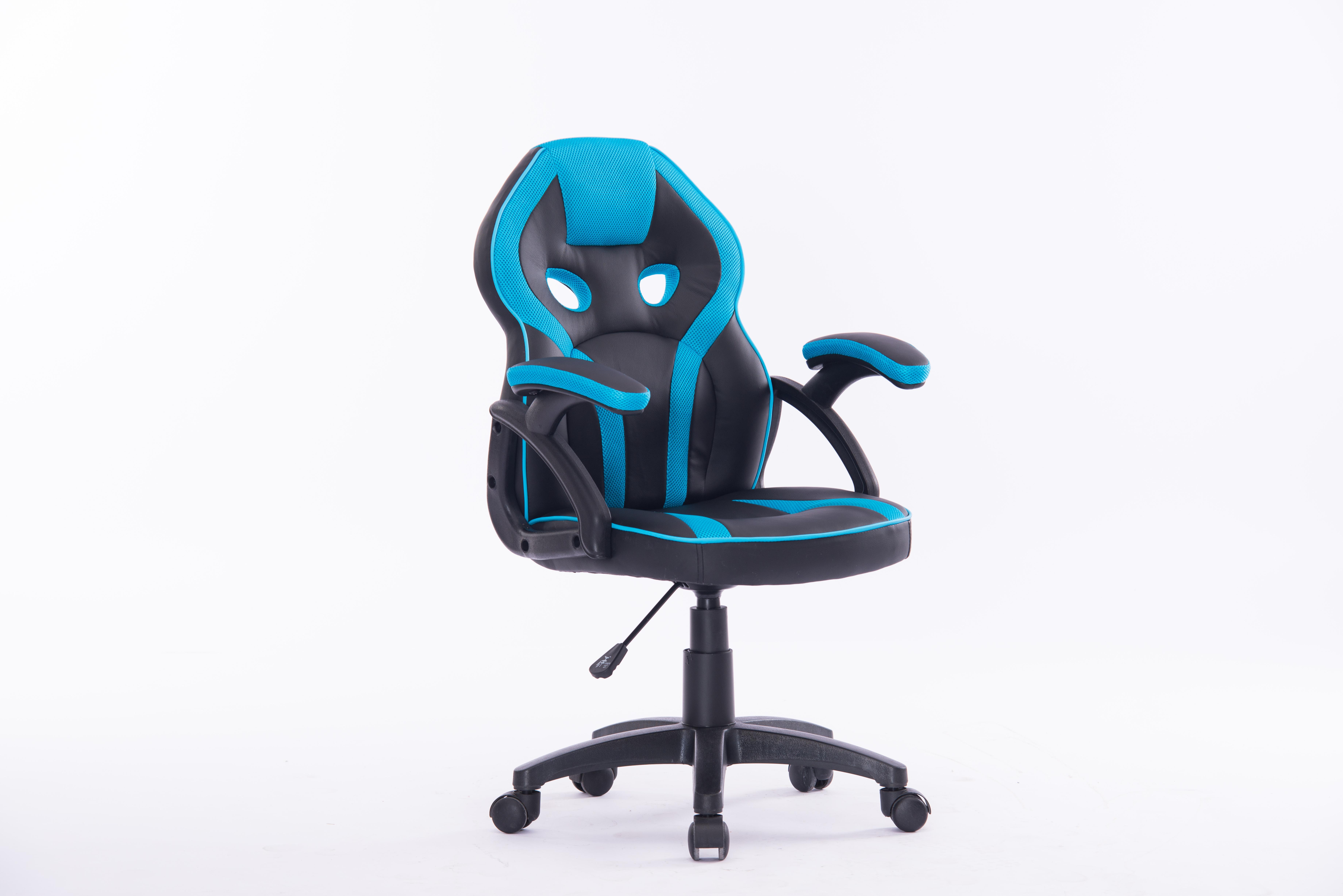 Bureaustoel kidz blauw zwart blauw deba meubelen