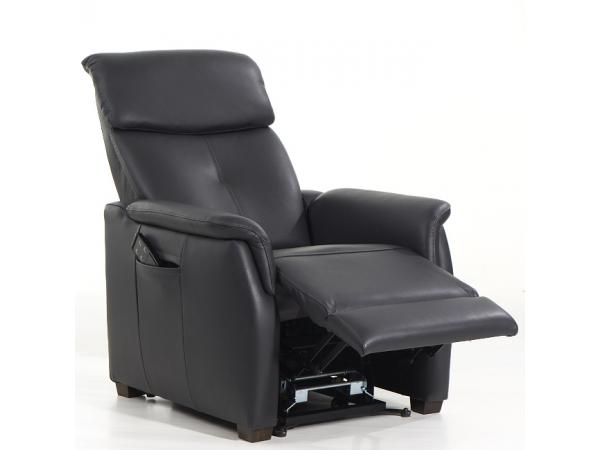 Elektrische Relaxzetel Kopen.Elektrische Relax Oviedo Leder Samoa Carbon Grijs Deba Meubelen