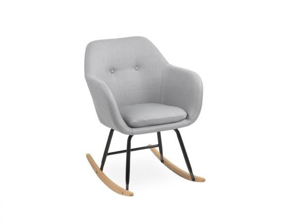 Scandinavisch Design Schommelstoel.Schommelstoel Emilia Licht Grijs Grijs Deba Meubelen