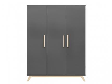 Kleerkast 'Kyan' - kleur: Grey