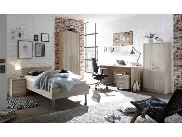 Design Kast Hout : Kast met schappen optimus sonoma eik hout deba meubelen